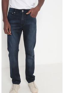 Jeans Reto Estonado Com Bolsos- Azul Escuro- Calvin Calvin Klein