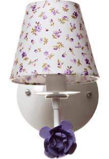 Arandela 1 Lâmpada Flor Quarto Bebê Infantil Menina Potinho De Mel Lilás - Kanui