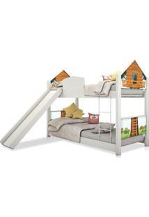 Beliche Infantil Casinha Prime Casa Na Árvore Escorregador Casah
