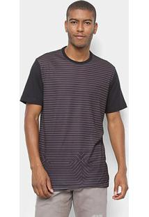 Camiseta Mcd Especial Listras Masculina - Masculino-Branco