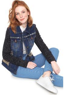 Jaqueta Jeans Desigual Bluery Azul