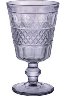 Conjunto De 6 Taças De Vidro Para Água Azul Geometric 250Ml