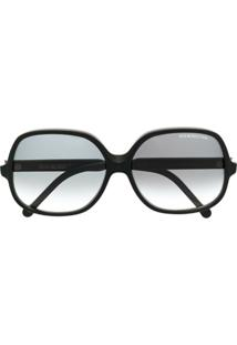 Cutler & Gross Óculos De Sol Oversized Degradê - Preto