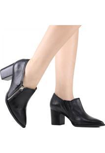 Sapato Scarpin Zariff Bico Fino Preto