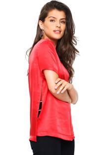 Camiseta Seda Tufi Duek Lisa Vermelha