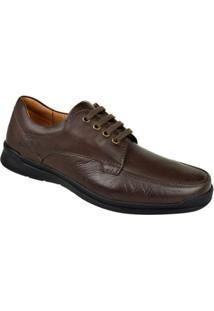 Sapato Conforto Couro Cloud Opananken Masculino - Masculino-Marrom