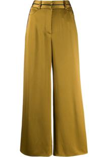 Peter Pilotto Cropped Wide Leg Trousers - Verde