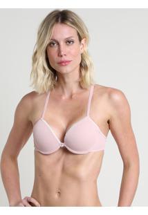 Sutiã Nadador Dois Em Um Com Alças Removíveis Canelado Com Bojo E Aro Rosa
