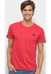 Camiseta Polo Rg 518 Friso Masculina - Masculino-Vermelho