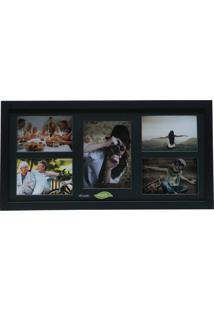 Painel Collection Para 4 Fotos 10X15 E 1 Foto 13X18 - Woodart - Preto