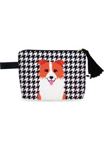 Clutch Nita Faco Border Collie Caramelo Preto E Branco