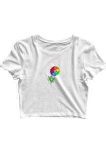 Blusa Feminina Cropped Tshirt Goup Girls Flor Lgbt - Feminino