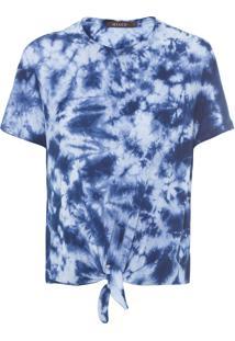 Camiseta Feminina Ocean Tie Dye - Azul