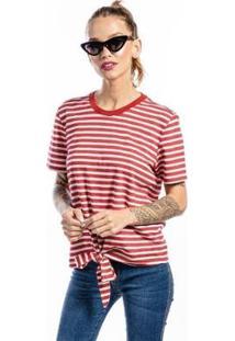 Camiseta Cia Gota Listrada Nózinho Feminina - Feminino