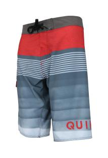 Bermuda Quiksilver Division Solid - Masculina - Cinza/Vermelho