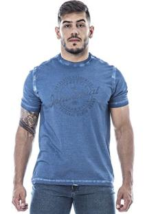 Camiseta Masculina Individual Azul