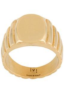 I.V.I. Signore Oval Signet Ring - Dourado