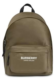 Burberry Mochila Com Estampa De Logo - Verde