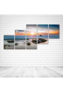Quadro Decorativo - Landscap Beach.Jpeg - Composto De 5 Quadros - Multicolorido - Dafiti