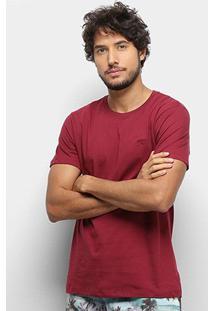 Camiseta T-Shirt Gajang Básica Masculina - Masculino-Vinho