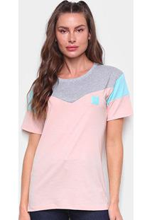 Camiseta Tricats Recortes Live Life Feminina - Feminino-Azul