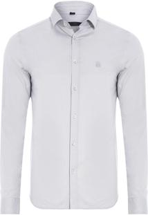 Camisa Masculina New Slim - Cinza