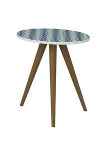 Mesa De Canto 1006R Branco/Azul - Be Mobiliario