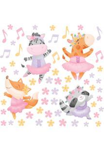 Adesivo De Parede Infantil Animais Ballet