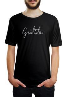 Camiseta Hunter Gratidão Preta