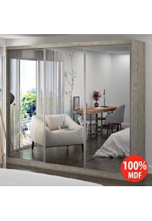 Guarda Roupa 3 Portas Com 3 Espelhos 100% Mdf 1905E3 Demolição - Foscarini