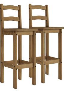 Conjunto 2 Cadeiras Bistrô Rustic Line Cera 8370 Móveis Mpo