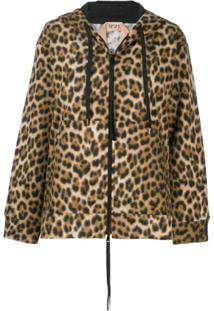 Nº21 Leopard Print Jacket - Marrom