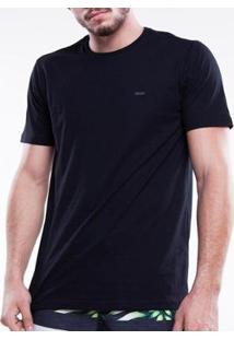 Camiseta Mormaii Básica Leve Laranjeiras Masculina - Masculino-Preto