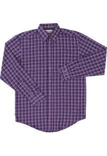 Camisa Wrangler Xadrez Roxo