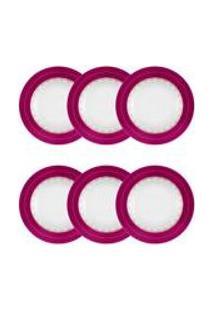 Conjunto De 6 Pratos Fundos 23,5Cm Flamingo Dama De Honra