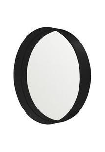 Espelho Manaus Redondo Prata Borda Preta 40Cm - 62675 Sun House