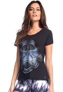 Blusa Floral- Preta Azulvestem