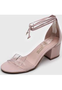 Sandália Santa Lolla Tira Transparente Rosa