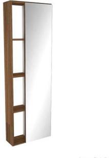 Armário De Cozinha Aéreo Modular Florença 124,5Cm Com Espelho Terracota Darabas