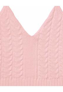 Blusa Com Alças Cropped Tricô Rosa Wan - Lez A Lez