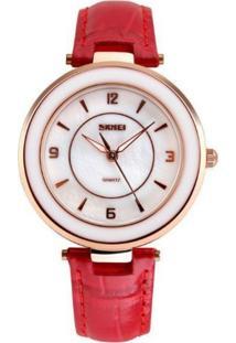 Relógio Skmei Analógico 1059 Vermelho