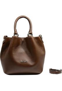 Bolsa Em Couro Recuo Fashion Bag Baú Chocolate