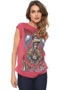 c28373f98 Camiseta Com Rasgos Vermelha feminina | Shoelover