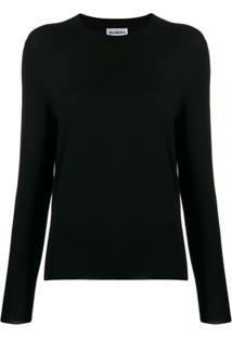 Balenciaga Suéter Com Padronagem Bb - Preto
