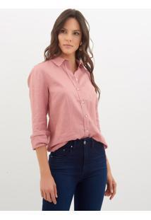 Camisa Le Lis Blanc Linho Rose Feminina (Rose, 40)