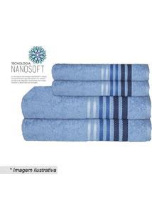 Toalha De Rosto Dynamo- Azul Claro & Azul Escuro- 45Camesa