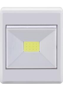 Luminária Portátil Retangular Em Plástico Branca 48Ledbot0000 Elgin