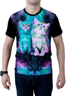 Camiseta Ops Aliens Cat Estampada