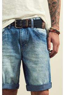 Bermuda Jeans Masculina Adulto