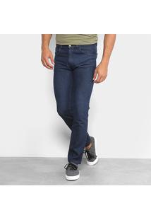 Calça Jeans Slim Rock Blue Básica Tradicional Masculina - Masculino-Jeans